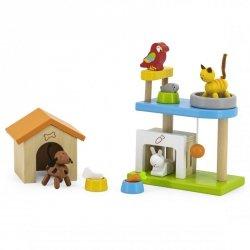 VIGA Zwierzęta Domowe Drewniany Plac Zabaw Zestaw