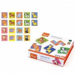 VIGA Drewniana Układanka Puzzle Dzikie Zwierzęta