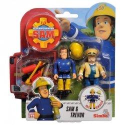 Simba Strażak Sam Sam i Trevor 2 Figurki Akcesoria