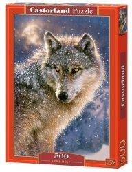 Puzzle 500 Elementów, Samotny wilk