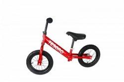 Rowerek biegowy  pompowane koła dla dzieci PL-12 Czerwony metalic