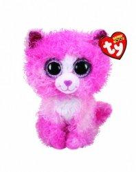 Maskotka TY Beanie Boos Różowy kot Reagan 15 cm