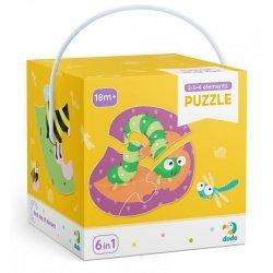 Dodo Puzzle 2-3-4 elementy Owady