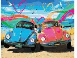 Obraz Malowanie po numerach - Garbusy