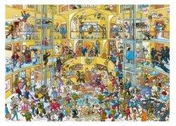 Puzzle 1000 elementów Dzień jak co dzień w hotelu, Schone (Puzzle+plakat)