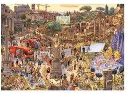 Puzzle 2000 elementów Pokaz mody pośród ruin antycznego Rzymu, Knoor Peter (Puzzle+plakat)