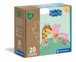 Puzzle 2x20 elementów Play For Future - Świnka Peppa