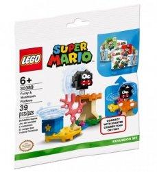 Klocki Super Mario 30389 Fuzzy i platforma z grzybem