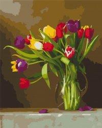 Obraz Paint it! Malowanie po numerach. Tulipany