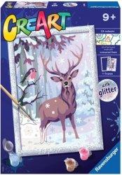 Malowanka CreArt dla dzieci Zimowi przyjaciele