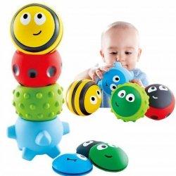 Gumowe piłki piłeczki sensoryczne owady A008