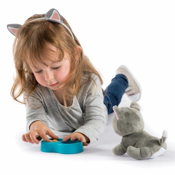 Smoby Zestaw 2w1 Kontener dla Kota + Interaktywny Miauczący Kot