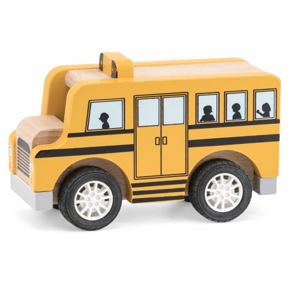 VIGA Drewniany Autobus Szkolny