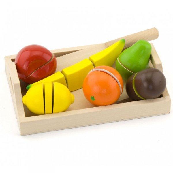 Drewniana Deska Owoce do krojenia Taca Nóż Viga Toys