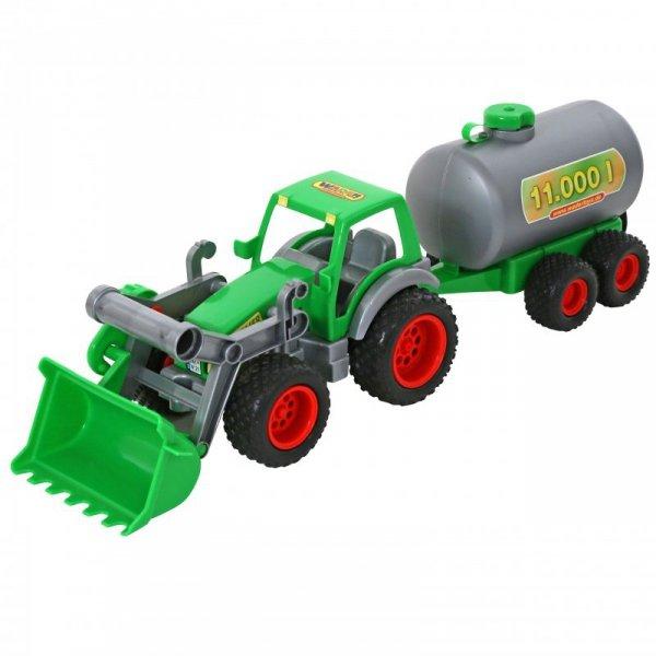 WADER Traktor Ładowarka Gigant z cysterną