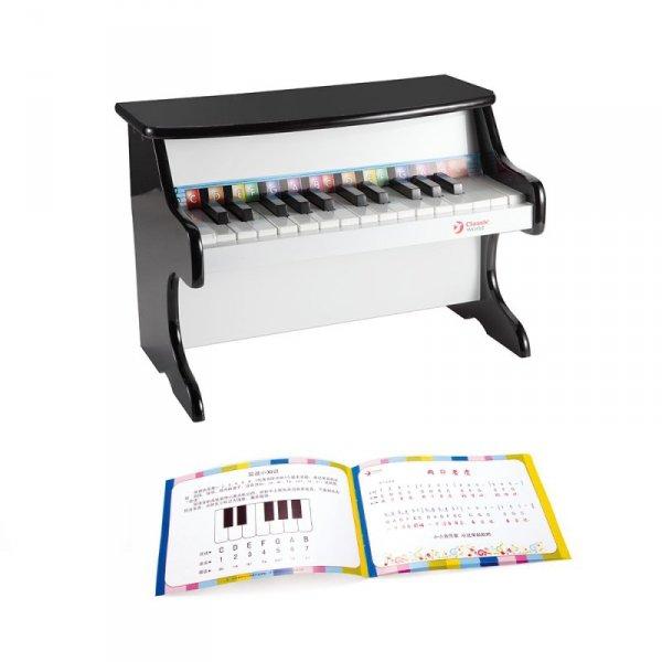 Pianino Pianinko dla dzieci Czarne Classic World