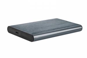 GEMBIRD OBUDOWA USB 3.1 NA DYSK HDD/SSD 2.5'' SATA SZCZOTKOWANE ALUMINIUM, SZARA
