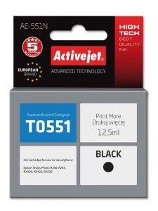 Tusz Activejet AE-551N (zamiennik Epson T0551; Supreme; 12.5 ml; czarny)