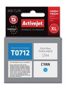 Tusz Activejet AEB-712N (zamiennik Epson T0712, T0892, T1002; Supreme; 15 ml; niebieski)