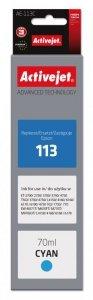 Tusz Activejet AE-113C (zamiennik Epson 113 C13T06B240; Supreme; 70ml; niebieski)