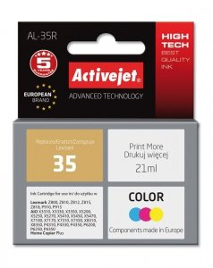 Tusz Activejet AL-35R (zamiennik Lexmark 35 18C0035; Premium; 21 ml; kolor)