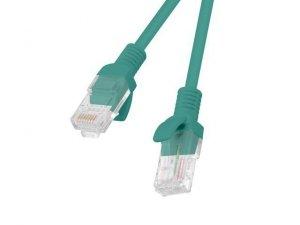 Patchcord UTP Lanberg PCU5-10CC-0200-G (RJ45 - RJ45 ; 2m; UTP; kat. 5e; kolor zielony)