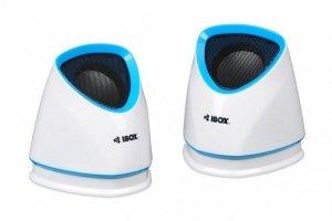 Zestaw głośników komputerowe IBOX 2.0 MOLDE WHITE IGLH9107W (2.0; kolor biały)