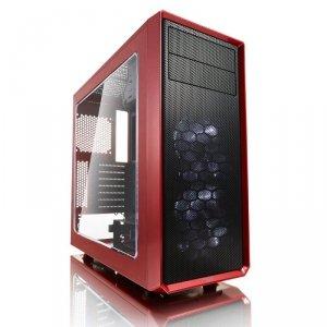 Obudowa FRACTAL DESIGN FOCUS FD-CA-FOCUS-RD-W (ATX, Micro ATX, Mini ITX; kolor czerwony)