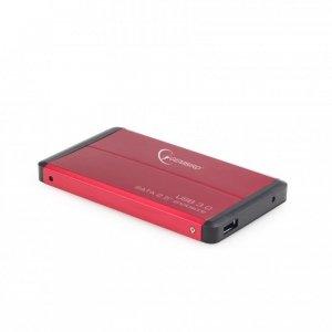 Obudowa na dysk GEMBIRD EE2-U3S-2-R (2.5; USB 3.0; Aluminium; kolor czerwony)