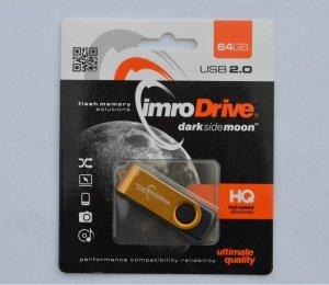 Pendrive IMRO AXIS/64G USB (64GB; USB 2.0; kolor złoty)