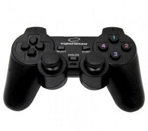 Gamepad Esperanza EG102 (PC, PS3; kolor czarny)