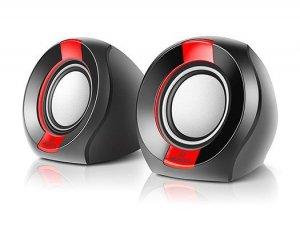 Głośniki REAL-EL S-50 (aktywne,6W, black/red)