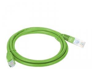 Patchcord UTP A-LAN KKU5ZIE2 (RJ45 - RJ45 ; 2m; UTP; kat. 5e; kolor zielony)