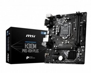 Płyta główna MSI H310M PRO-VDH PLUS (LGA 1151; 2x DDR4 DIMM; Micro ATX) (WYPRZEDAŻ)