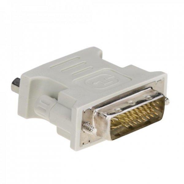 Akyga VGA-F/DVI-M DVI 24+5 Niebieski, Biały