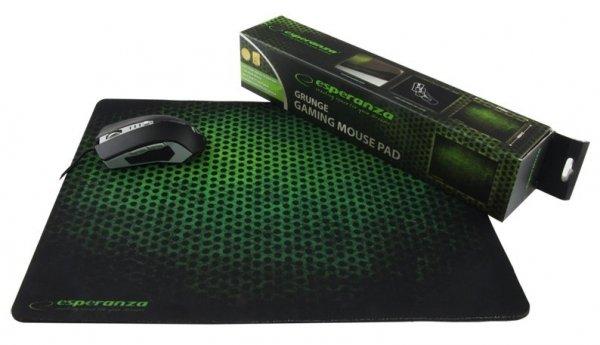 Esperanza EA146G Czarny, Zielony Podkładka do myszki do grania