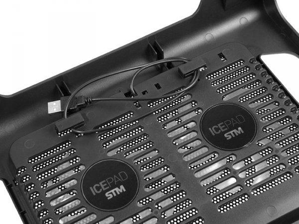 Podstawka chłodząca pod laptop Tracer SNOWFLAKE TRASTA44452 (15.6 cala; 2 wentylatory)