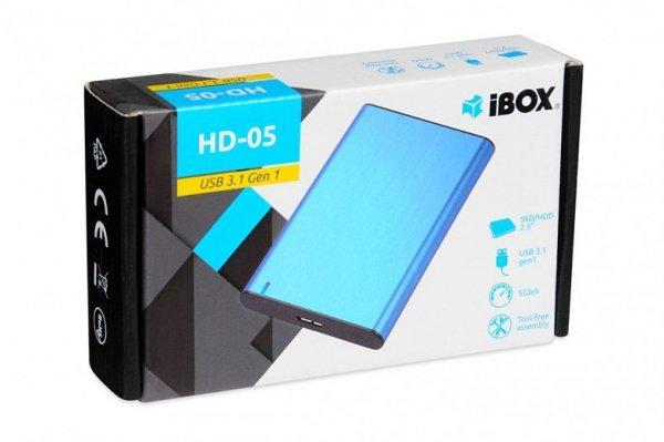 """iBox HD-05 2.5"""" Obudowa HDD/SSD Niebieski"""