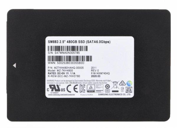 "Samsung SM883 2.5"" 480 GB Serial ATA III MLC"