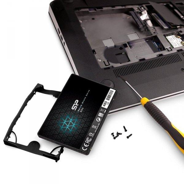"""Silicon Power Slim S55 2.5"""" 480 GB Serial ATA III  TLC"""