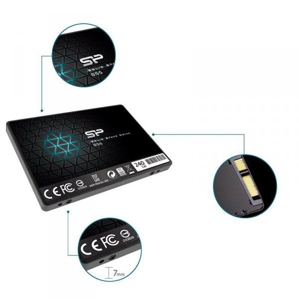 """Silicon Power Slim S55 2.5"""" 240 GB Serial ATA III TLC"""