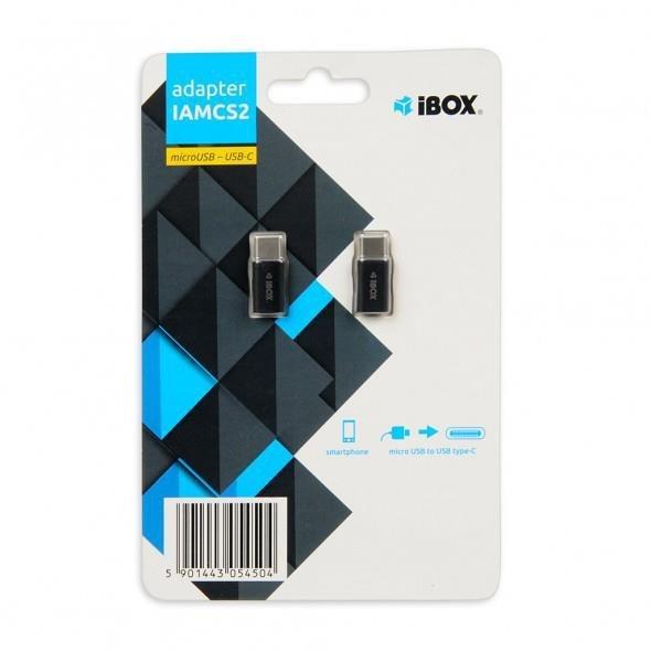 Adapter IBOX IAMCS2 (Micro USB F - USB typu C M; kolor czarny)
