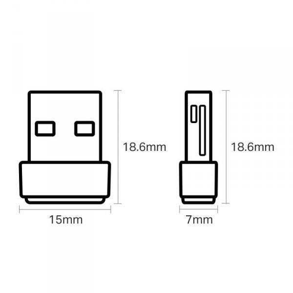 Karta sieciowa TP-LINK T2U Nano (USB 2.0)