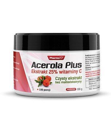 Acerola Plus w proszku, czysty ekstrakt 25% witaminy C, 100 g, Pharmovit