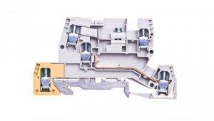 Zacisk piętrowy potrójny 4mm2 poliamidowy szary KXA04I1