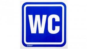Tabliczka ostrzegawcza /Oznaczenie WC 100x100/ 61/H/F