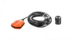 Wyłącznik pływakowy z przewodem PVC 10m do wody czystej i szarej z przeciwwagą LVFSP1W10