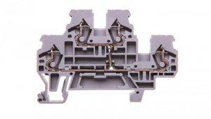 Złączka szynowa 2-piętrowa 2,5mm2 L / L szara 870-508