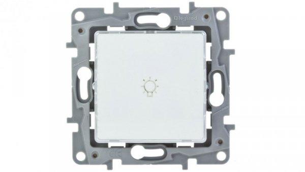 NILOE Przycisk jednobiegunowy mechanizm z pełną plakietką biały IP21 przycisk 1x 664515