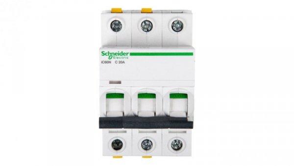 Wyłącznik nadprądowy 3P C 20A 6kA AC iC60N-C20-3 A9F04320